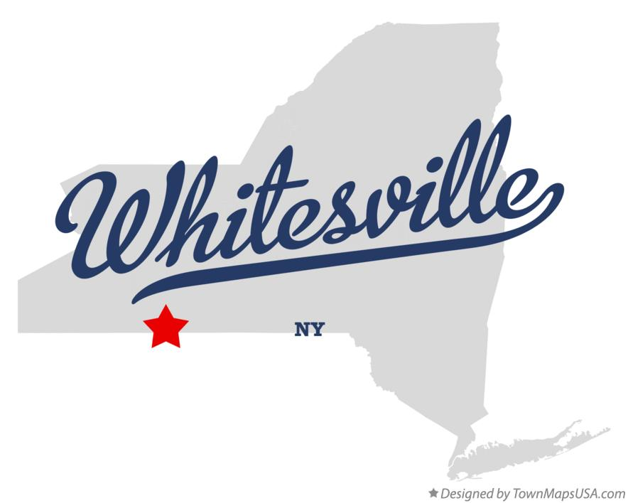 Map of Whitesville New York NY