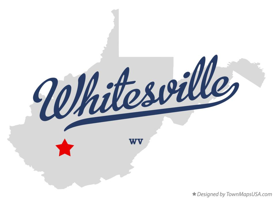 Map of Whitesville West Virginia WV
