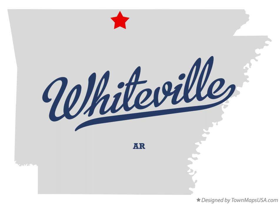 Map of Whiteville Arkansas AR