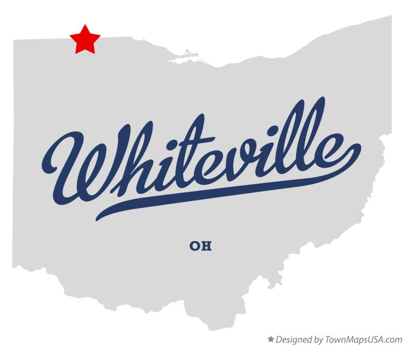 Map of Whiteville Ohio OH