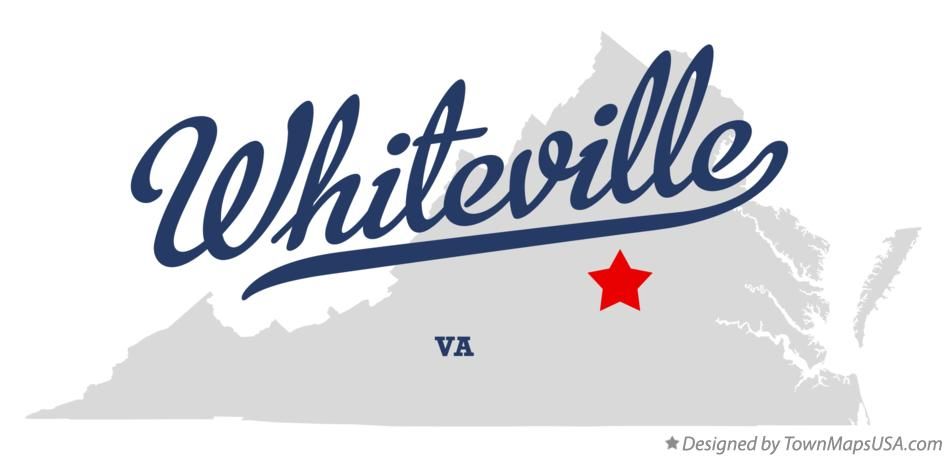 Map of Whiteville Virginia VA