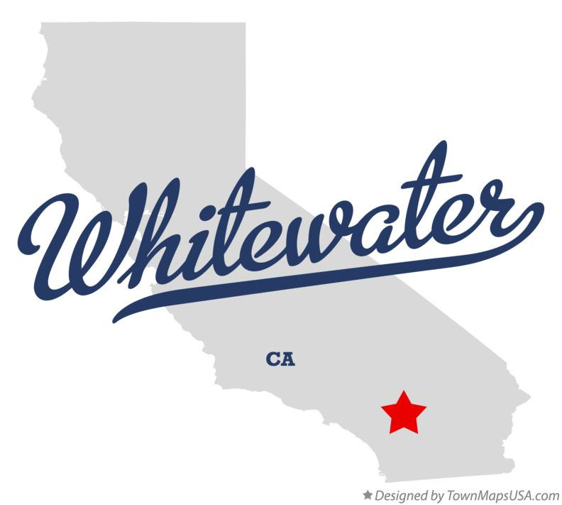 Map of Whitewater California CA