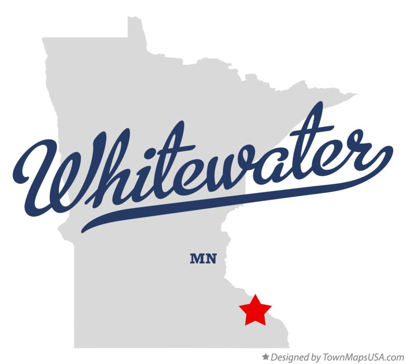 Map of Whitewater Minnesota MN