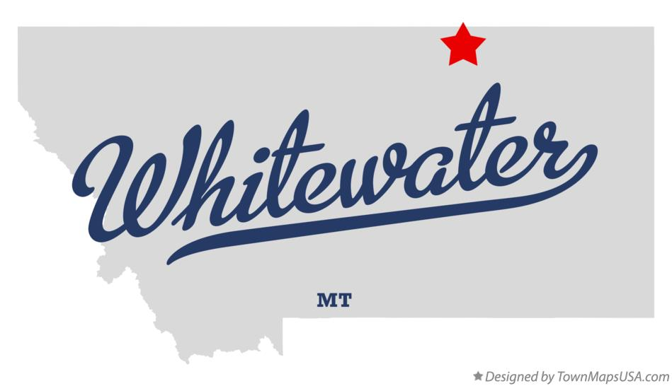 Map of Whitewater Montana MT