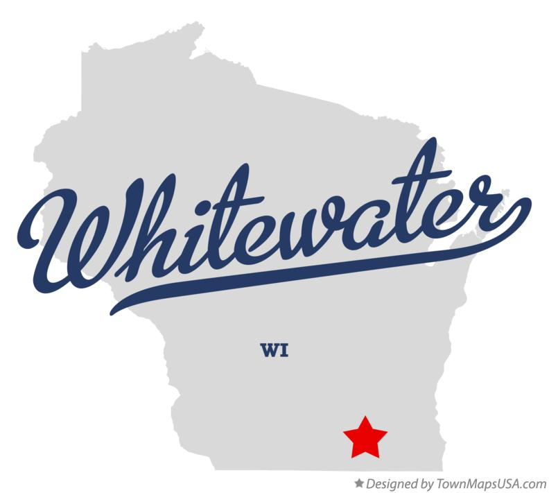 Map of Whitewater, WI, Wisconsin