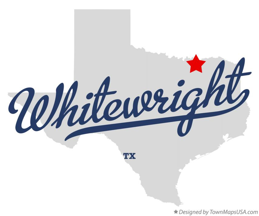 Map of Whitewright Texas TX