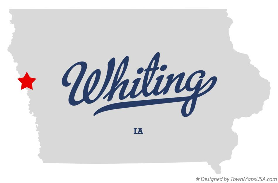 Map of Whiting Iowa IA