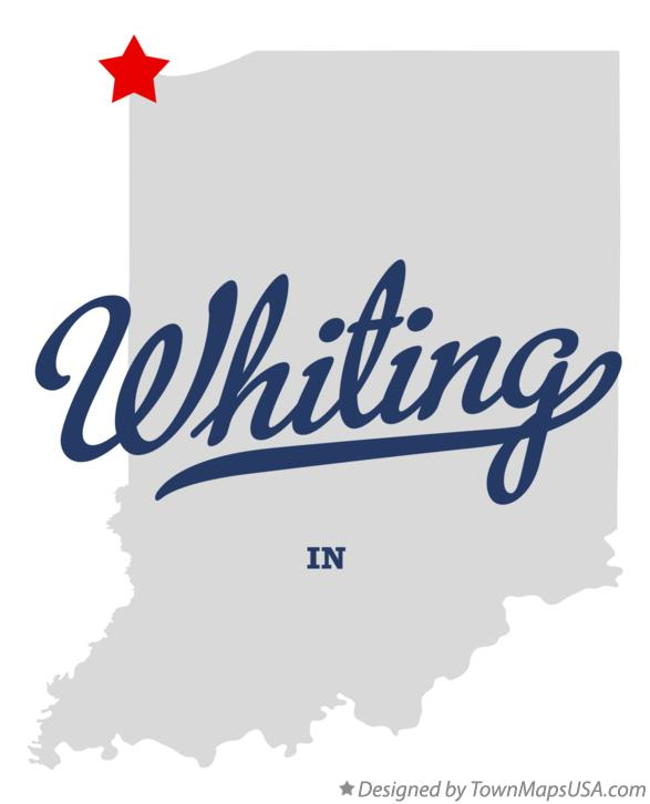 Map of Whiting Indiana IN
