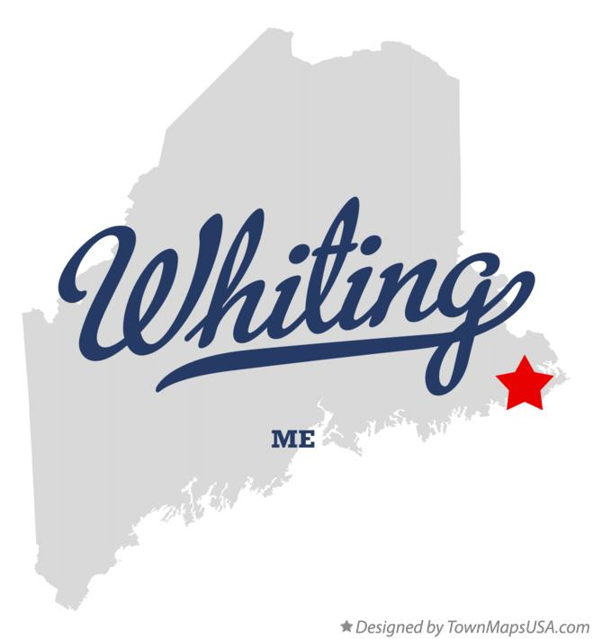 Map of Whiting Maine ME