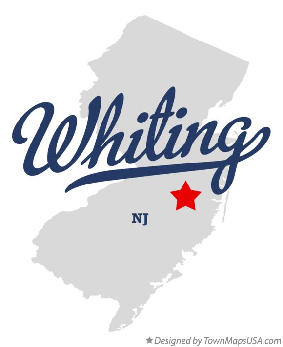 Map of Whiting New Jersey NJ