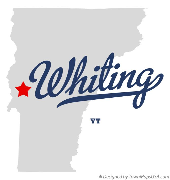 Map of Whiting Vermont VT