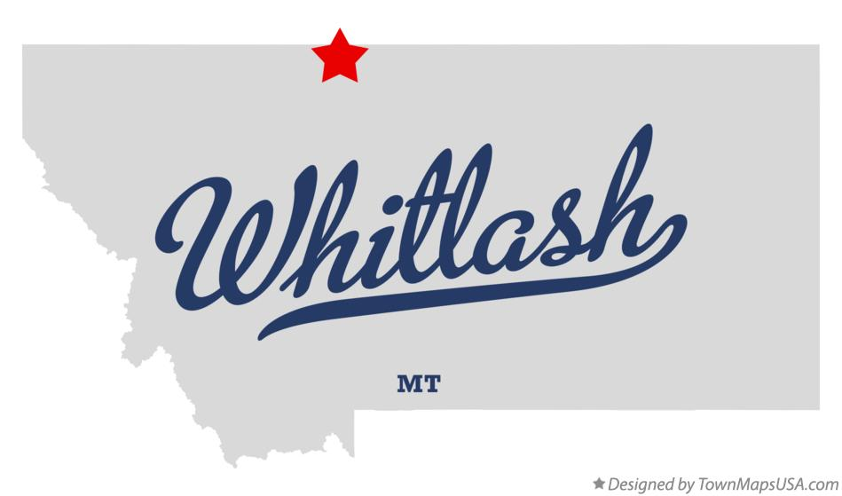 Map of Whitlash Montana MT