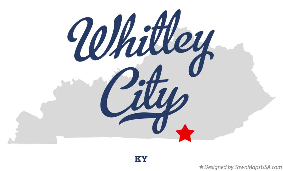 Map of Whitley City Kentucky KY