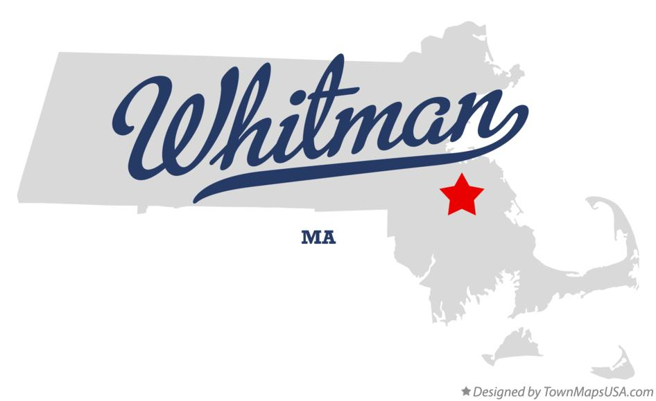 Map of Whitman Massachusetts MA