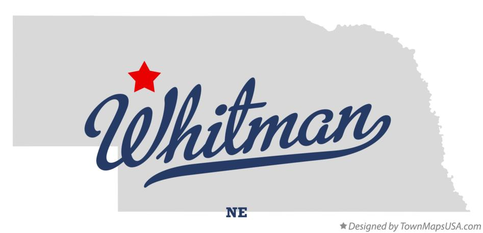 Map of Whitman Nebraska NE