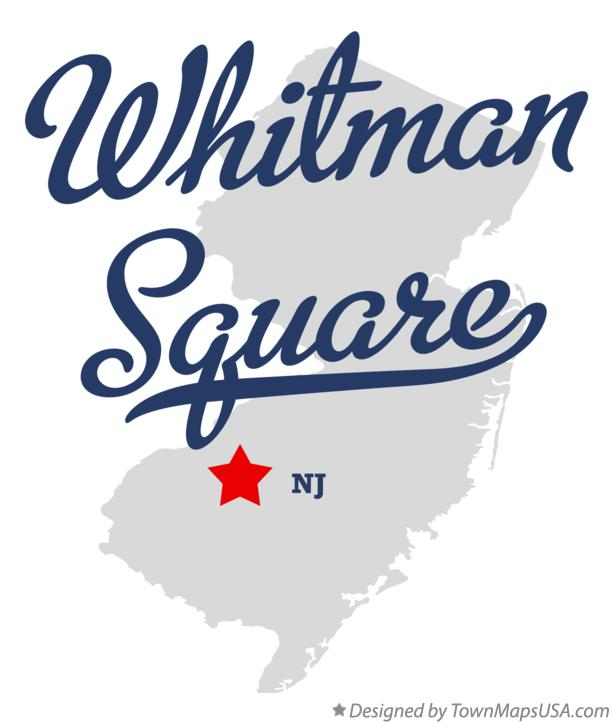 Map of Whitman Square New Jersey NJ
