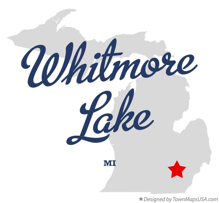 Map of Whitmore Lake Michigan MI