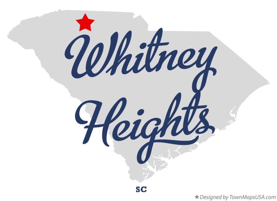Map of Whitney Heights South Carolina SC