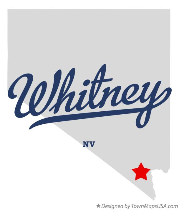 Map of Whitney Nevada NV