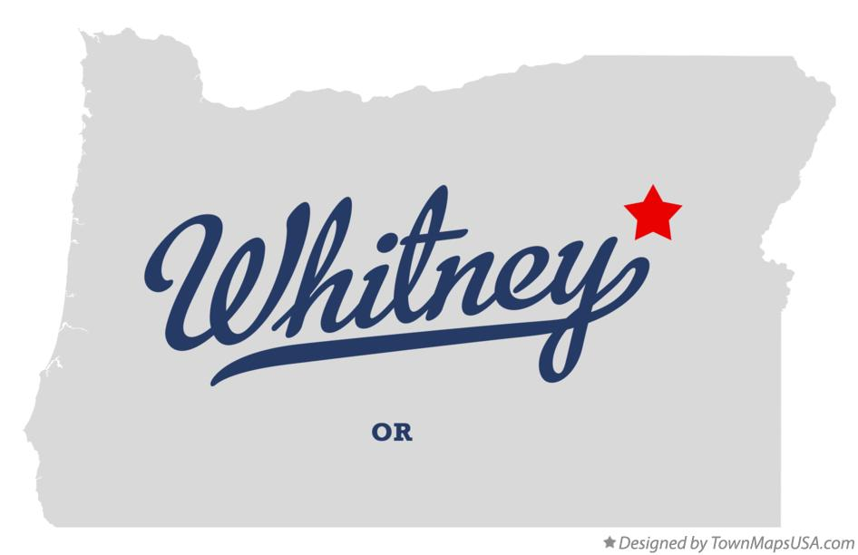 Map of Whitney Oregon OR