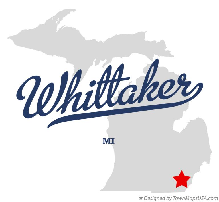 Map of Whittaker Michigan MI