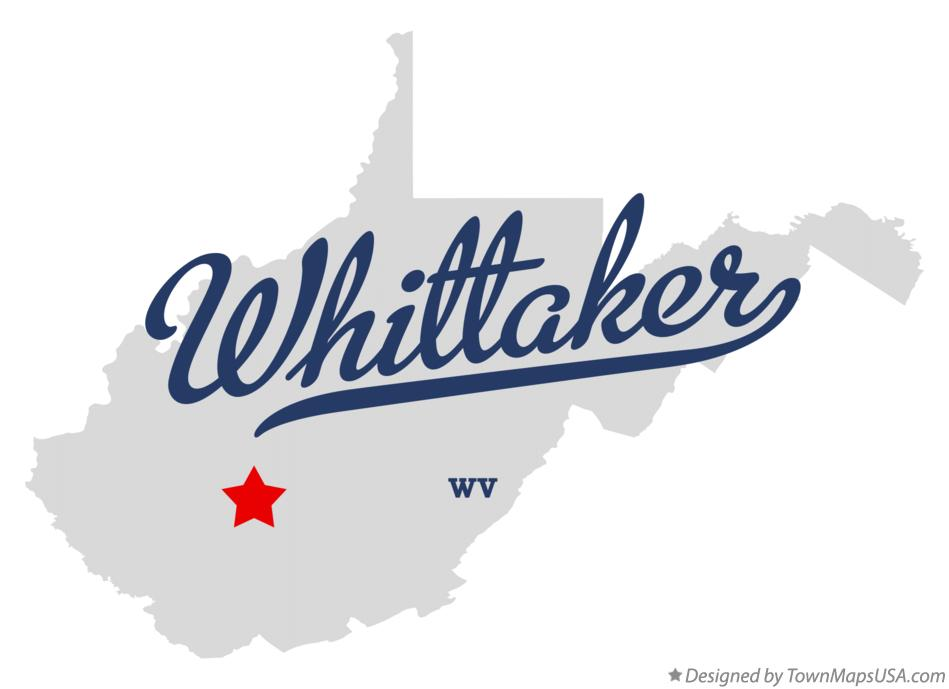 Map of Whittaker West Virginia WV