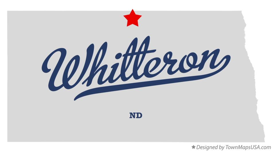 Map of Whitteron North Dakota ND