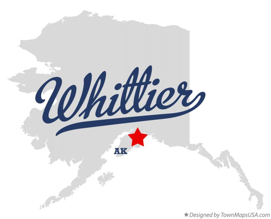 Map of Whittier Alaska AK