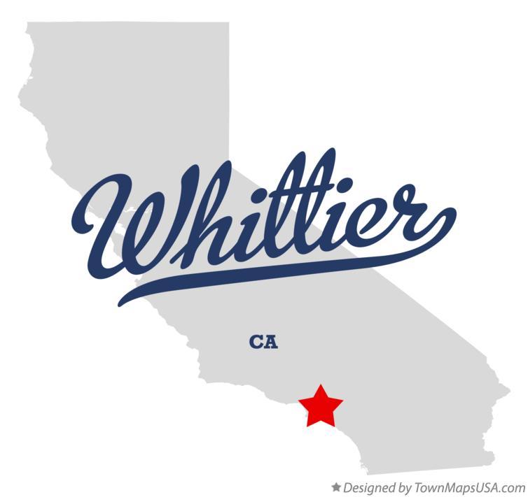 Map of Whittier, CA, California
