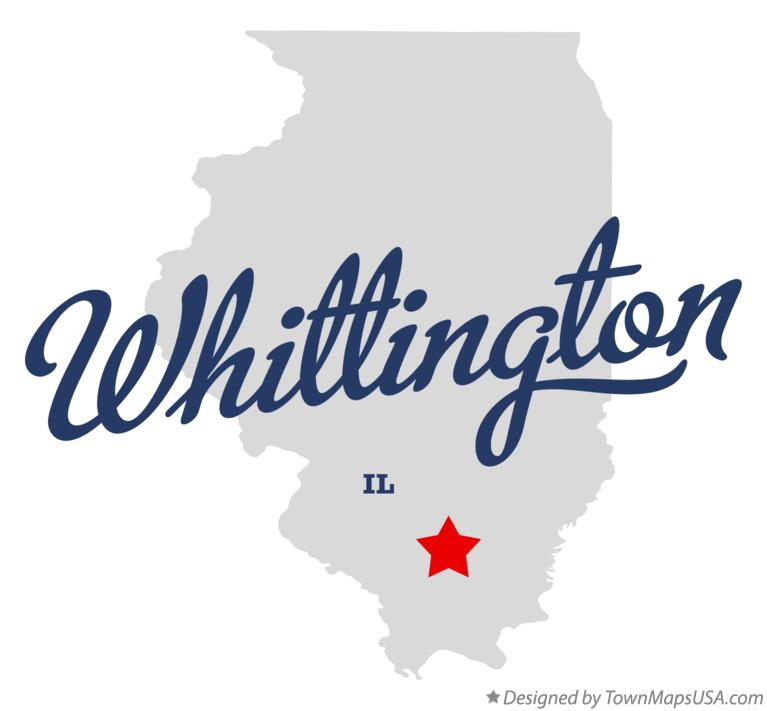Map of Whittington Illinois IL