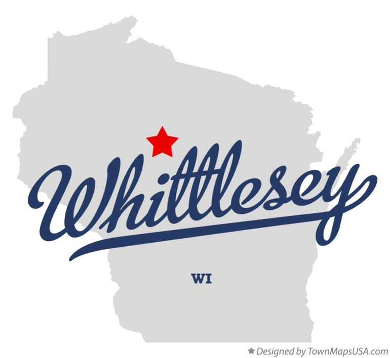Map of Whittlesey Wisconsin WI