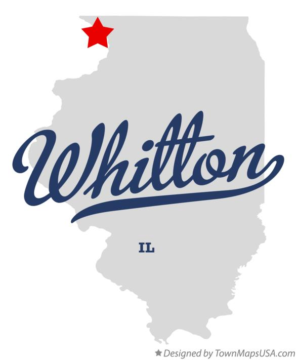 Map of Whitton Illinois IL