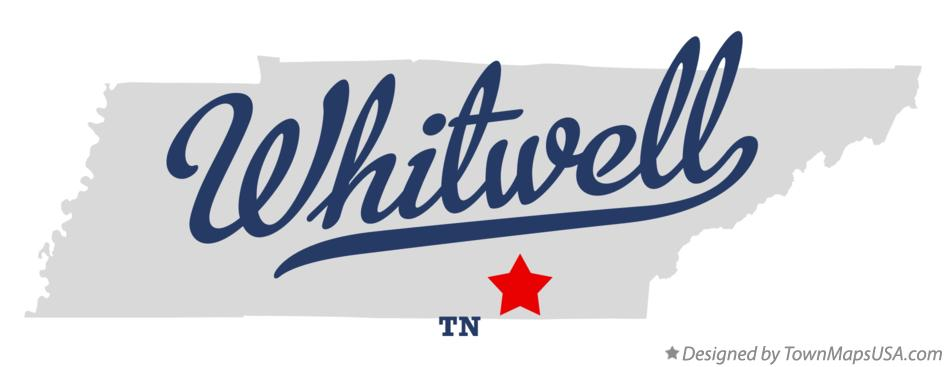 Map of Whitwell Tennessee TN