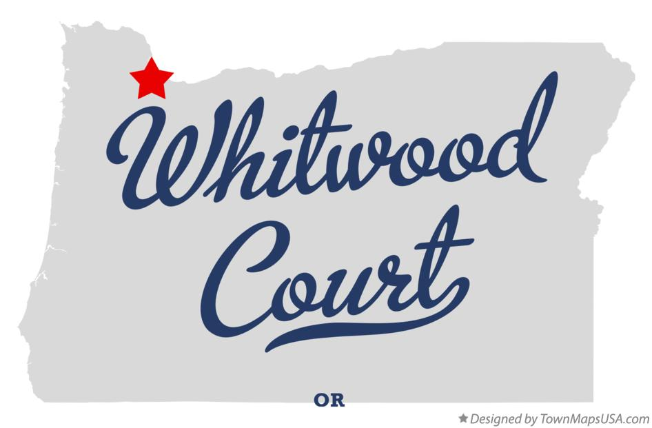 Map of Whitwood Court Oregon OR