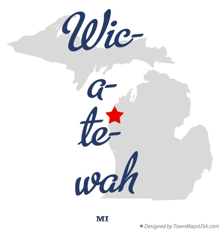 Map of Wic-a-te-wah Michigan MI