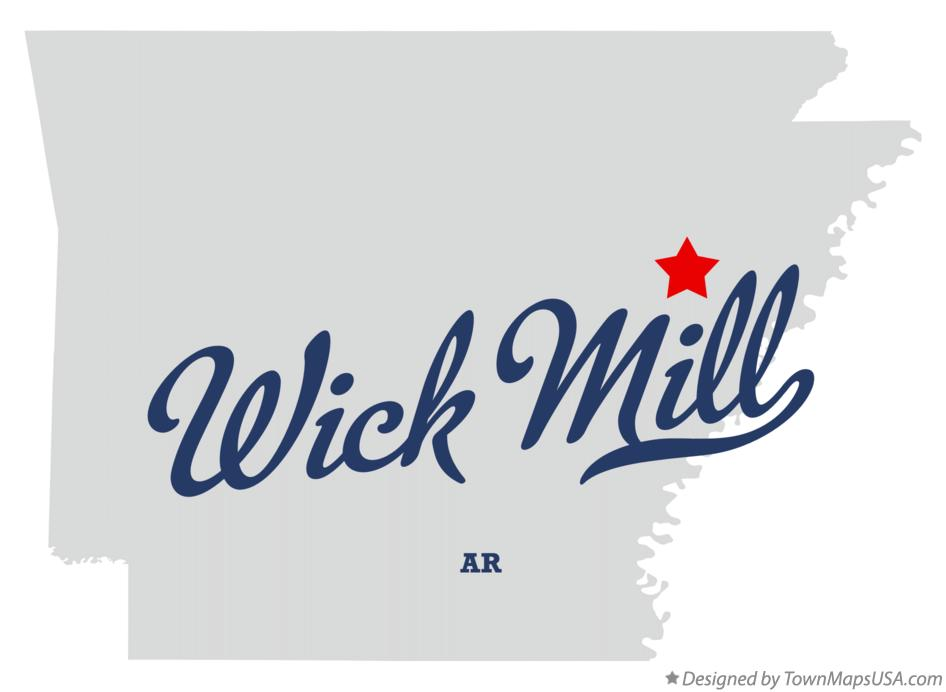 Map of Wick Mill Arkansas AR