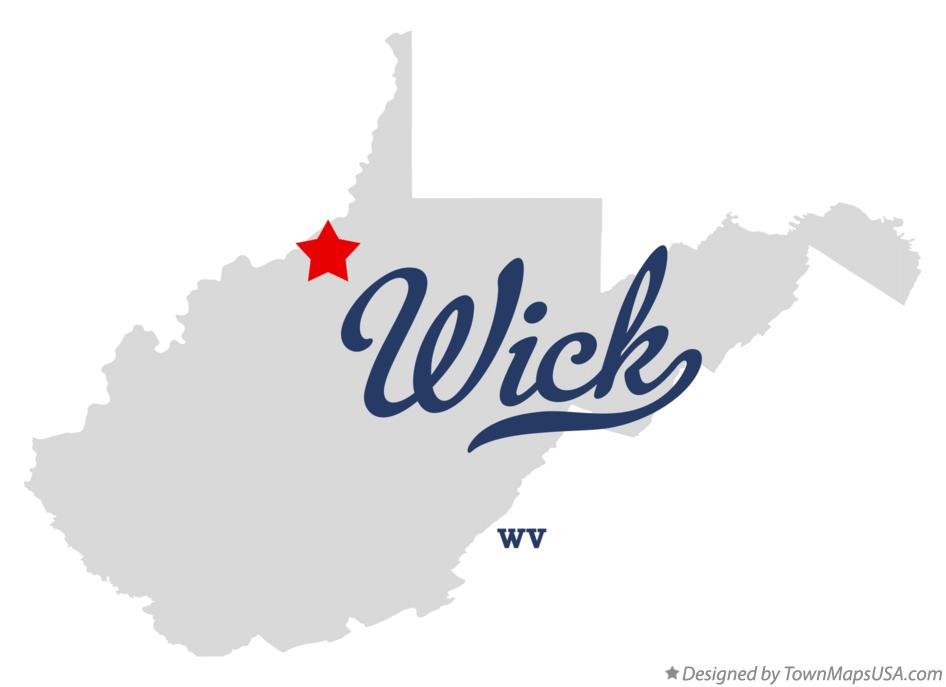 Map of Wick West Virginia WV