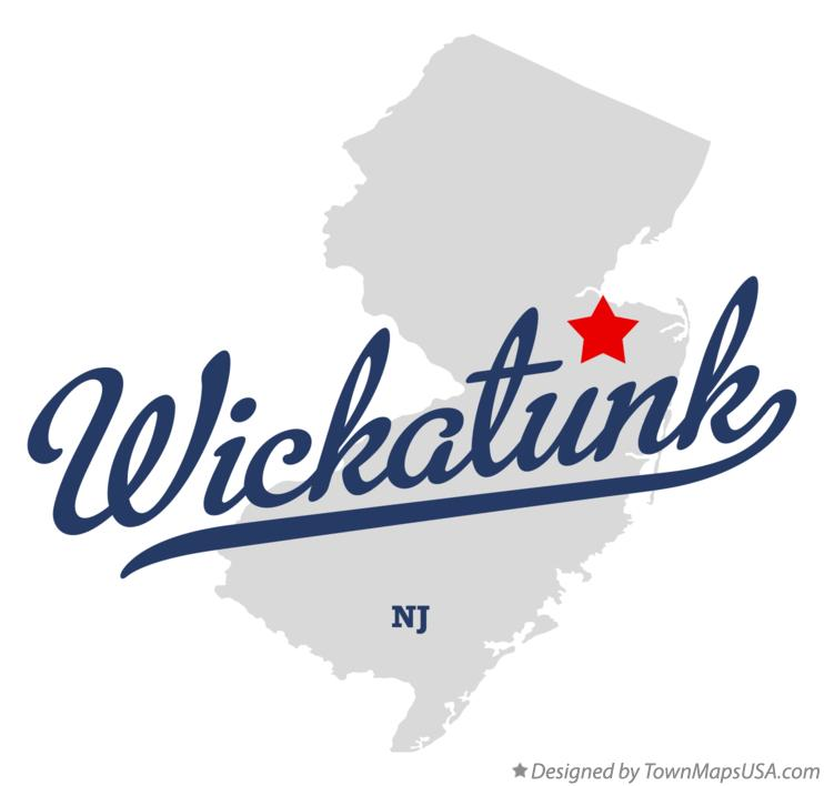 Map of Wickatunk New Jersey NJ
