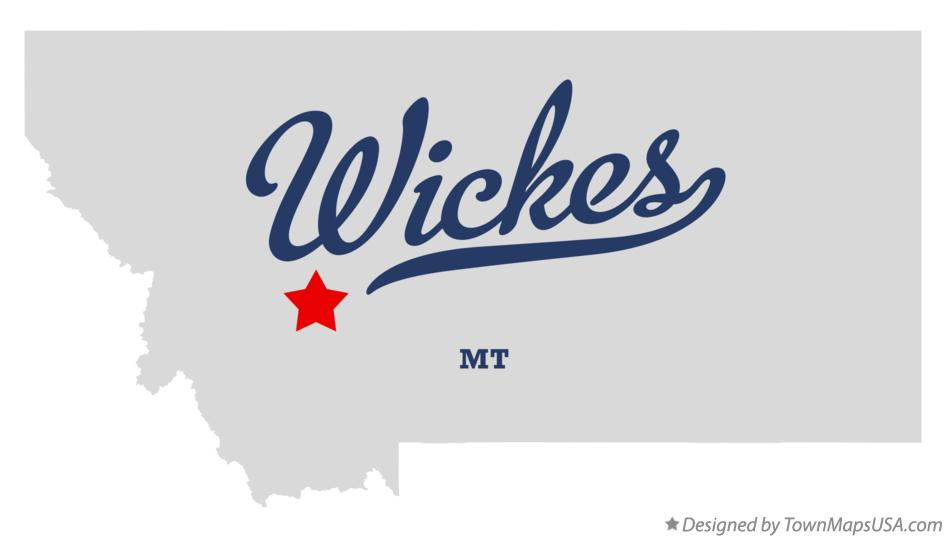 Map of Wickes Montana MT