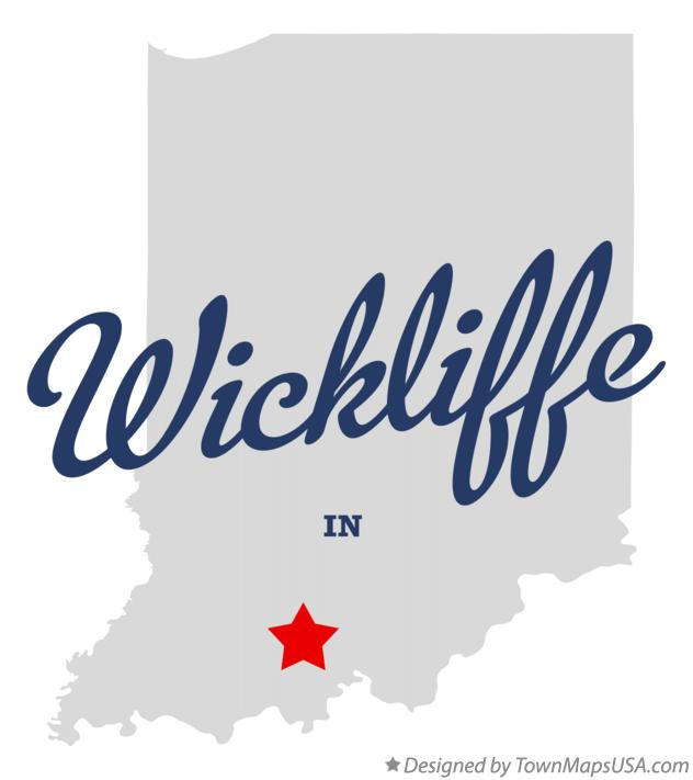 Map of Wickliffe Indiana IN