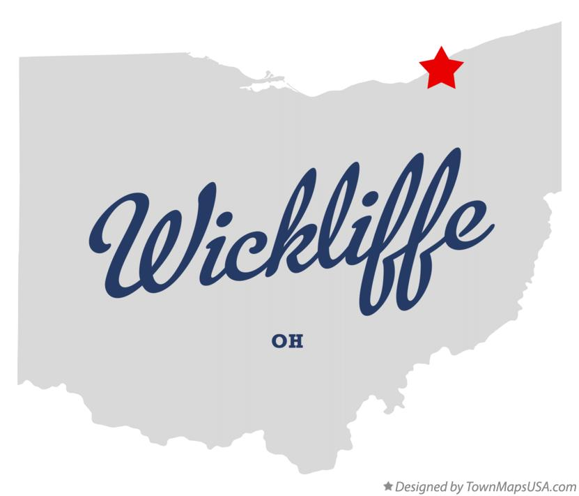 Map of Wickliffe Ohio OH