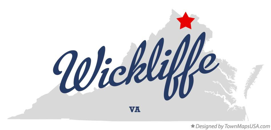Map of Wickliffe Virginia VA
