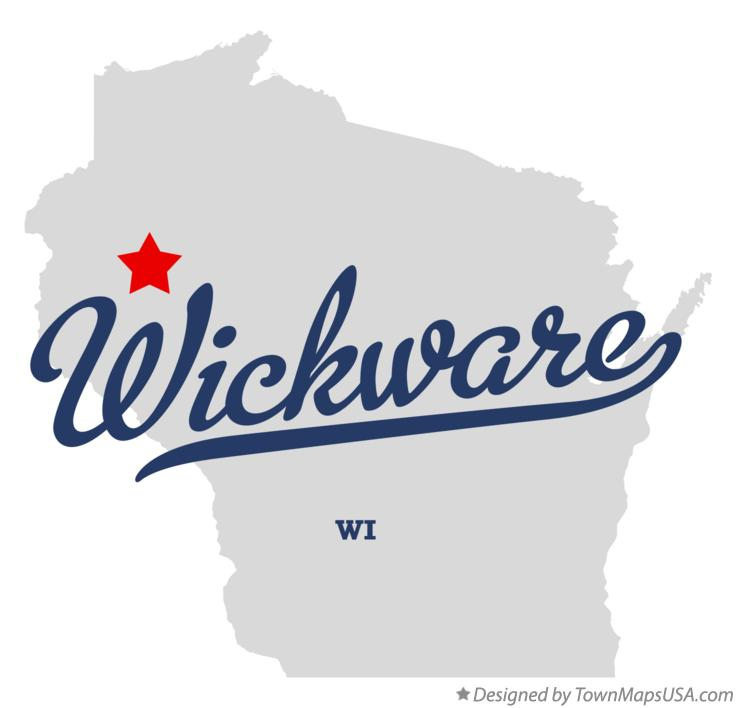 Map of Wickware Wisconsin WI