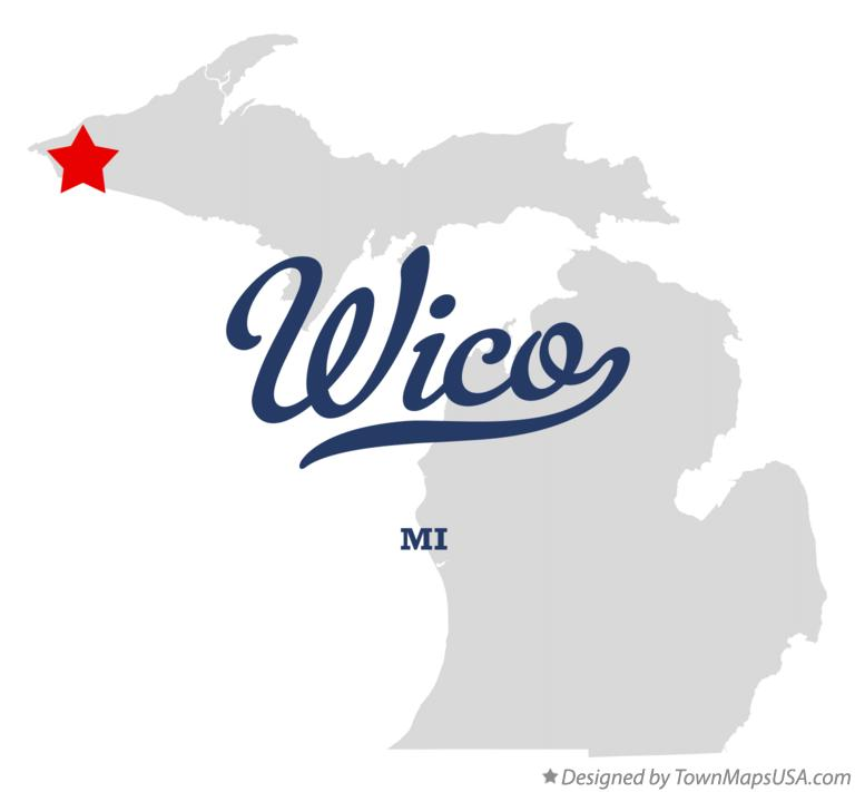 Map of Wico Michigan MI