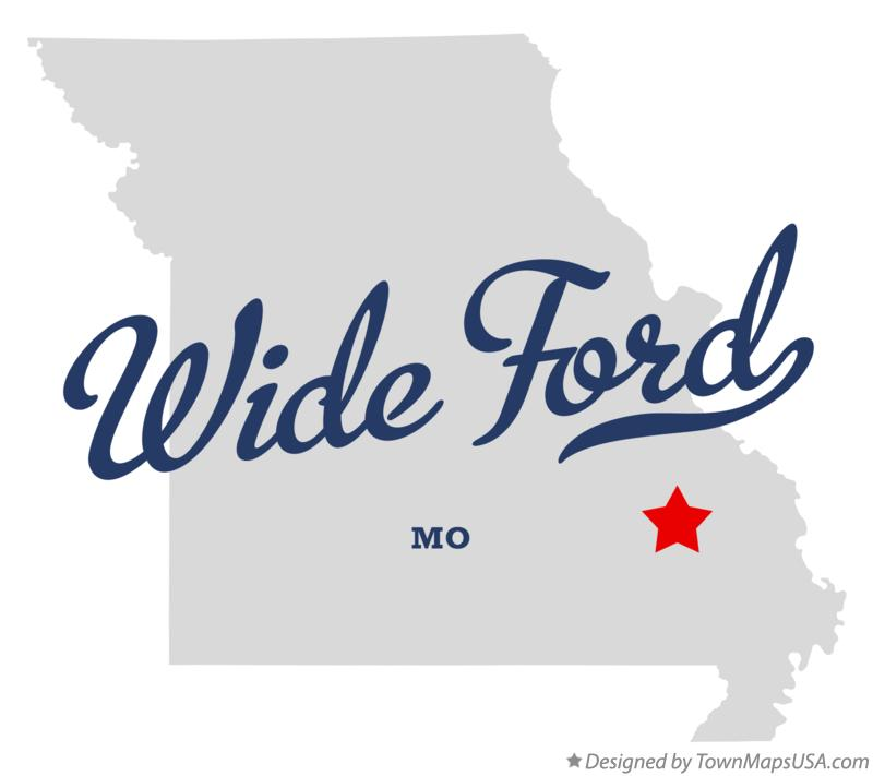 Map of Wide Ford Missouri MO