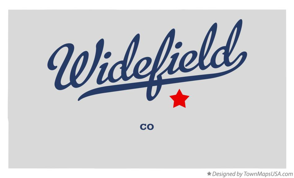 Map of Widefield Colorado CO
