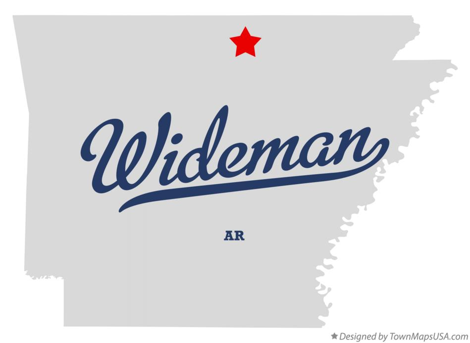 Map of Wideman Arkansas AR