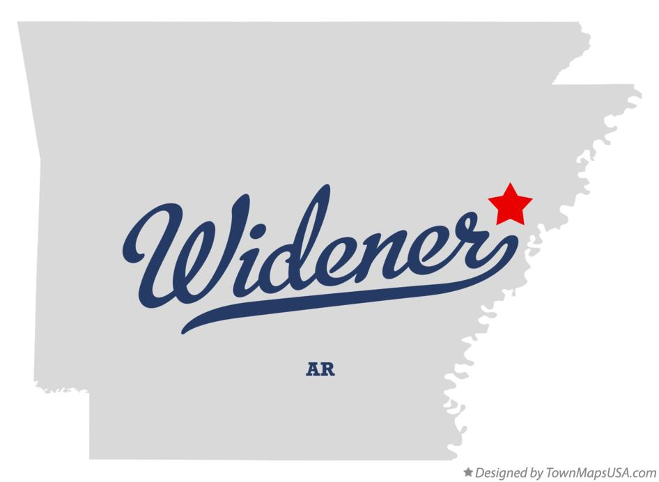 Map of Widener Arkansas AR