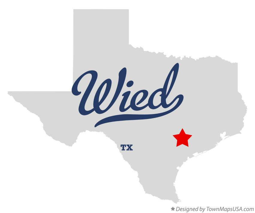 Map of Wied Texas TX