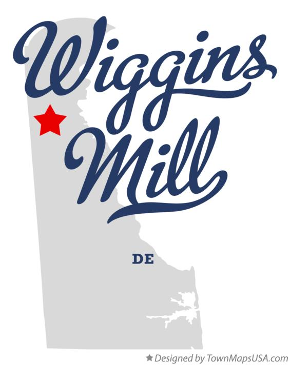 Map of Wiggins Mill Delaware DE